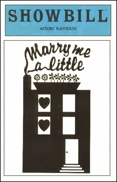 Marry Me A Little [playbill]