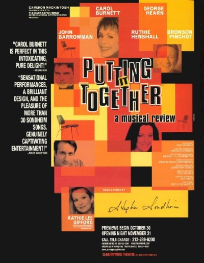 Putting It Together [1999 Broadway poster]