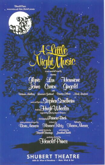 A Little Night Music [Original Broadway poster]