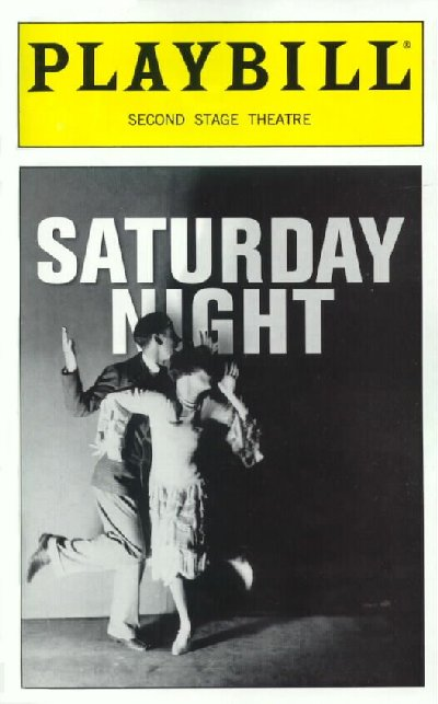 Saturday Night [Second Stage Playbill]