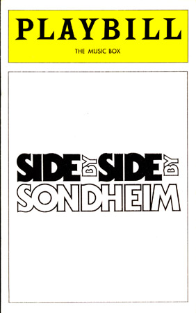 Side By Side By Sondheim [Broadway playbill]